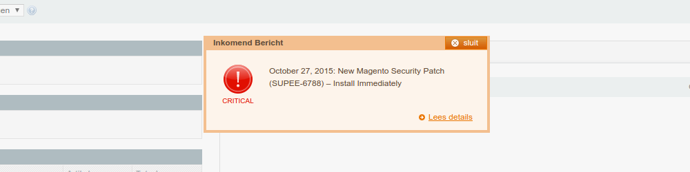 Magento Warning SUPEE-6788