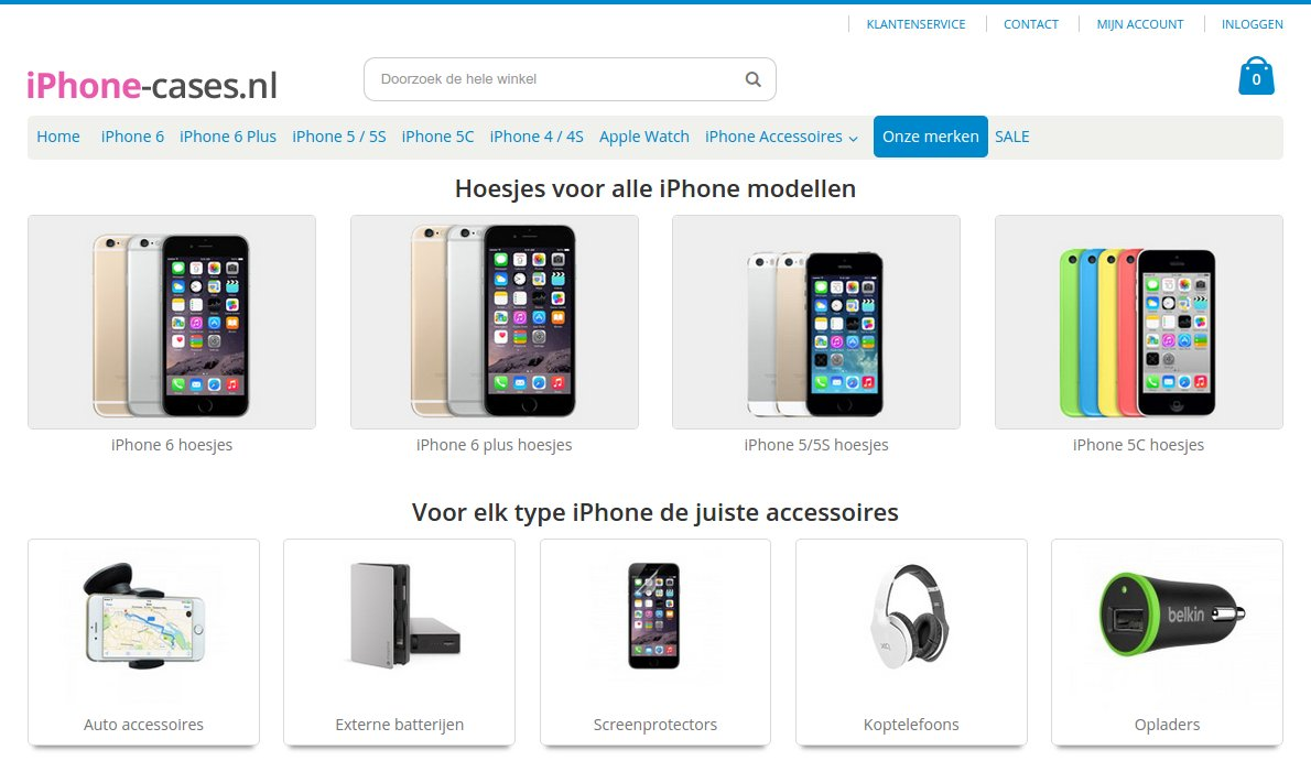 iphone-cases.nl website