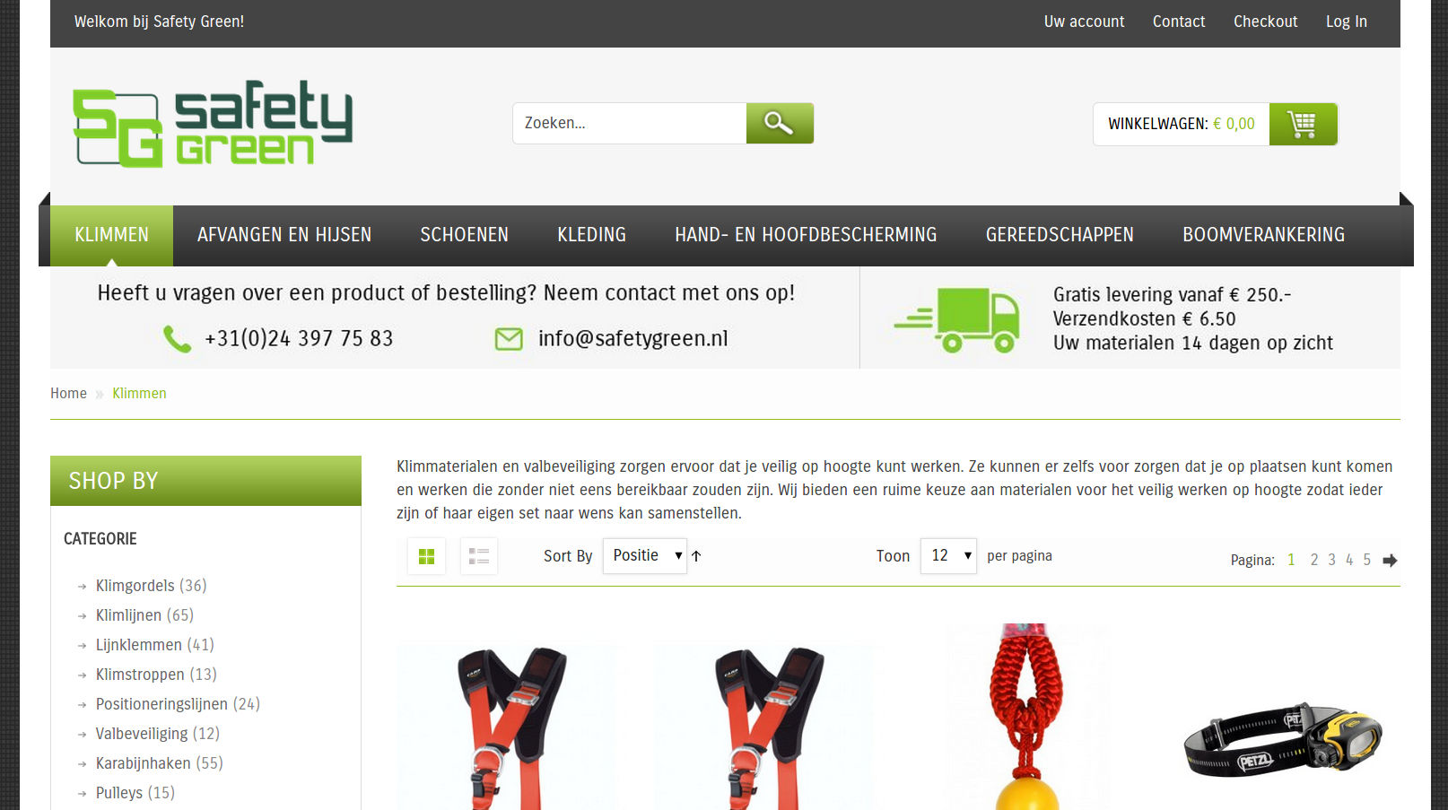 safetygreen.nl website